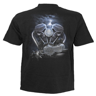 t-shirt men's - Black - SPIRAL - T021M101