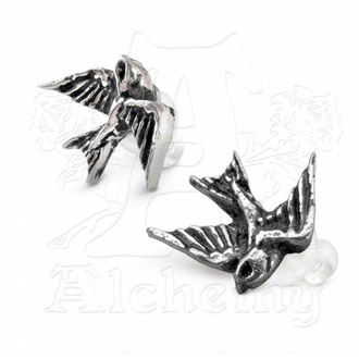 earrings Swallow studs (pair) - ALCHEMY GOTHIC - ULFE4