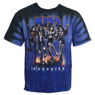 t-shirt metal men's Kiss - Destroyer - LIQUID BLUE - 11907