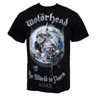 t-shirt metal men's Motörhead - The World Is Your - ROCK OFF - MHEADTEE14MB