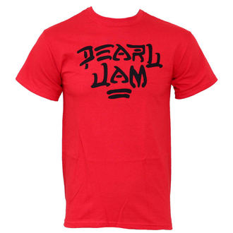 t-shirt metal men's Pearl Jam - Logo Red - LIVE NATION - PEPJA003