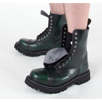 boots STEEL - 10 eyelet green (105/106 Green)