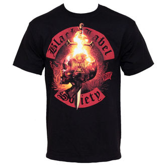 t-shirt metal men's Black Label Society - Flaming Skull - BRAVADO - Flaming Skul