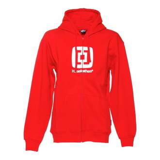 hoodie men Horsefeathers - Sliver - RED