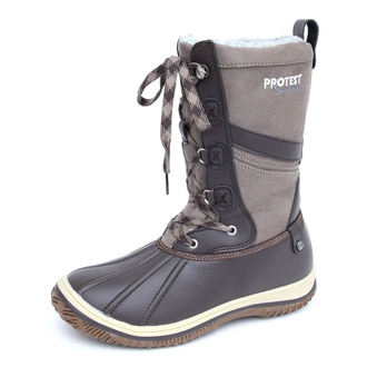 winter boots women's - Samara - PROTEST - 260 BROWN FABRIC