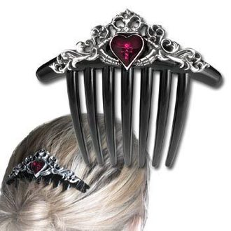comb (clip) to hair Claddagh Comb - ALCHEMY GOTHIC