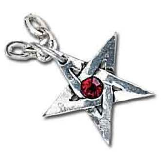 necklace Crystal Pentagram - ALCHEMY GOTHIC - P365