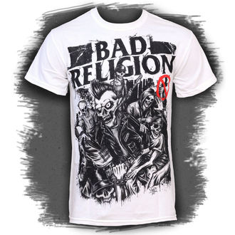 t-shirt men Bad Religion - Mosh Pit Europe - White - ATMOSPHERE