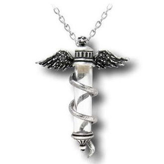 necklace Rod Of Asiepius - ALCHEMY GOTHIC - P529