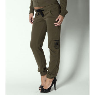 pants (trackpants) women METAL MULISHA - Recon - Military Green - M31709301