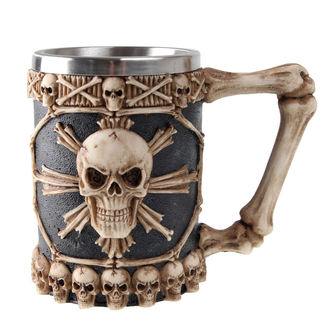 Beer Glass 0,5 L Large Tankard Of Skulls - NEM3722