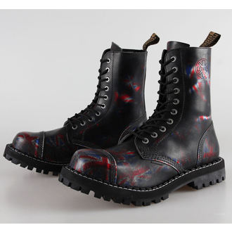 boots STEEL - 10 eyelet Union Jack Black ( 105/106 UK Black )