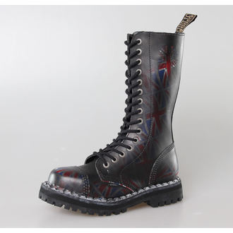 boots STEEL -15 eyelet Union Jack Black (135/136 UK Black )