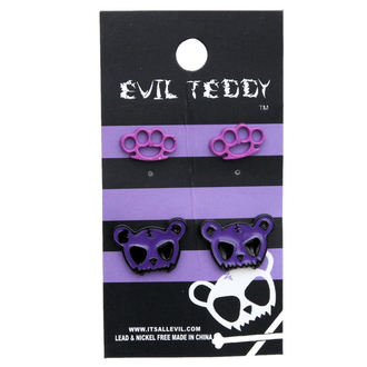 earrings POIZEN INUDSTRIES - ETES1 Teddy Knuckleduster Set - Purple