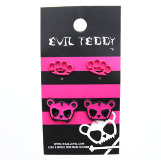 earrings POIZEN INUDSTRIES - ETES1 Teddy Knuckleduster Set - Pink