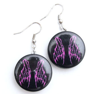 earrings POIZEN INDUSTRIES - EFBE2 Fairy Wing Disc - Pink