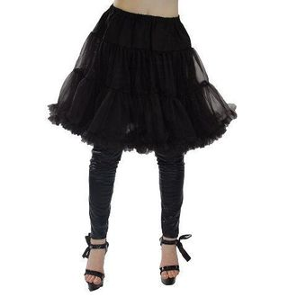 skirt POIZEN INDUSTRIES - Midi Peticott - Black