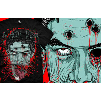t-shirt hardcore men's - Face - BLACK ICON