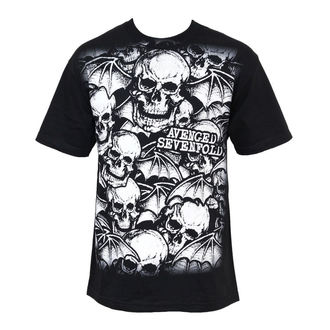 t-shirt metal men's Avenged Sevenfold - A/O White Deathbats - BRAVADO - 17952081