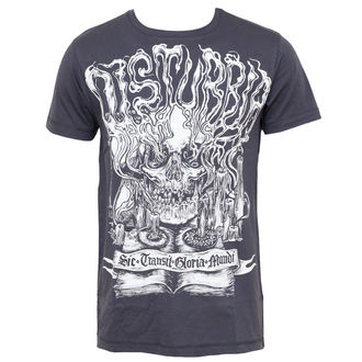 t-shirt hardcore men's - Mementomori - DISTURBIA - Charcoal