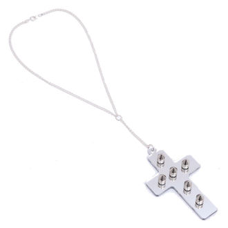 necklace Extreme Largeness - White Cross