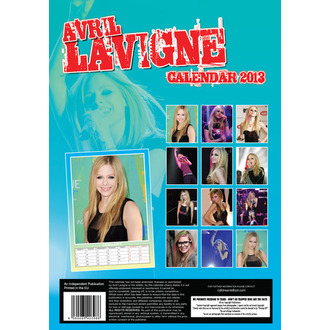 calendar to year 2013 Avril Lavigne