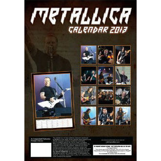 calendar to year 2013 Metallica - DRM-017