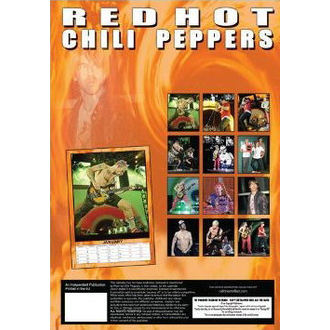 calendar to year 2013 - Red Hot Chilli Peppers