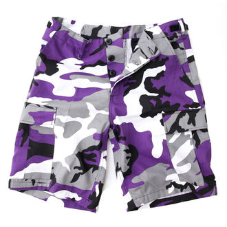 shorts men US BDU - Army - Lila Camo, MMB