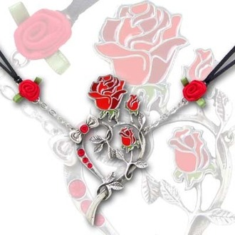 necklace Rose Heart - ALCHEMY GOTHIC - ULFP15