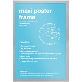 frame to poster (61x91,5 cm) - Silver - GB Posters, GB posters