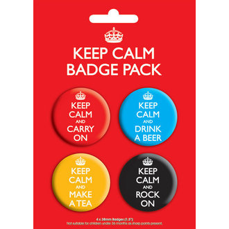 badges Keep Calm Badge - GB Posters - BP00199