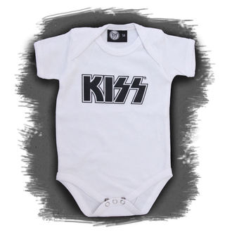 body children's Kiss - Logo - White - Metal-Kids