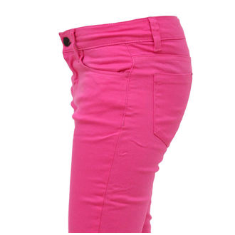 pants women HELL BUNNY - Super Skinny - Pink