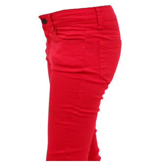 pants women HELL BUNNY - Super Skinny - Red
