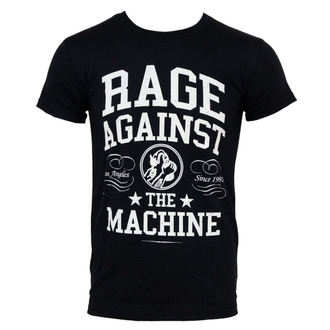 t-shirt men Rage Against The Machine - College - Black - ATMOSPHERE