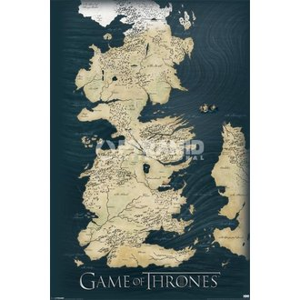 poster Games Of Thrones - Map - Pyramid Posters - PP32664