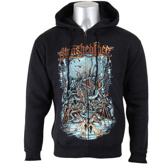 hoodie men's Smashed Face - Breaching - - Black, Smashed Face