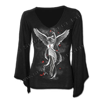 Women's t-shirt with long sleeve SPIRAL - SKY Angel - Black - DT217292