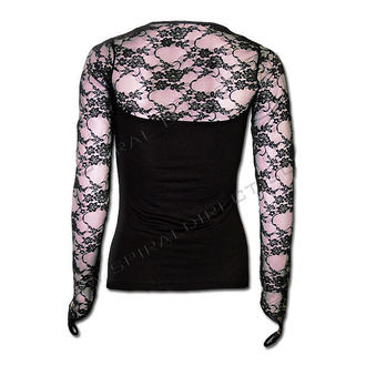 Women's t-shirt with long sleeve SPIRAL - Lace Glove - PL283