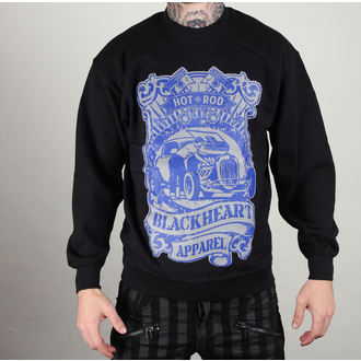 sweatshirt (no hood) men's - Hot Roder - BLACK HEART