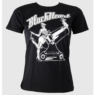 t-shirt street women's - Pin Up - BLACK HEART - Black
