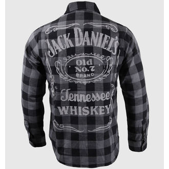 shirt men with long sleeve Jack Daniel's - Black/Grey - BIOWORLD - TS623014JDS