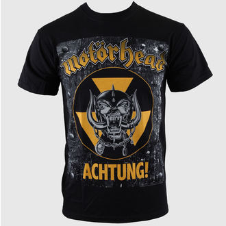 t-shirt metal men's Motörhead - Achtung g- Blk - ROCK OFF - MHEADTEE06MB