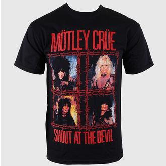 t-shirt metal men's Mötley Crüe - Shout Wire - ROCK OFF - MOTTEE01MB