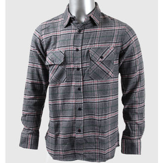 shirt men with long sleeve INDEPENDENT- Regulate - Charcoal Check