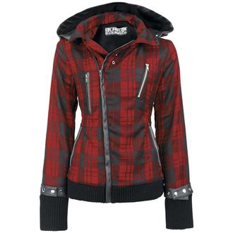 spring/fall jacket women's - Z Red Check - POIZEN INDUSTRIES - POI054