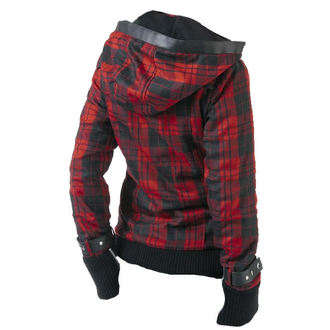 spring/fall jacket women's - Z Red Check - POIZEN INDUSTRIES