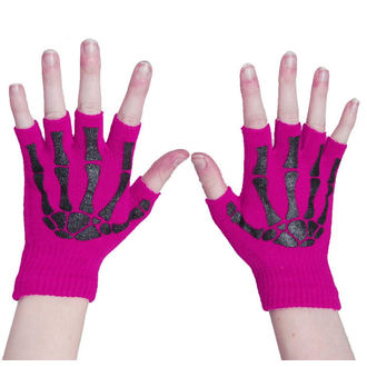 gloves fingerless POIZEN INDUSTRIES - BGS - Pink / Black