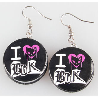 earrings POIZEN INDUSTRIES - BBBK Disc - Heartless
